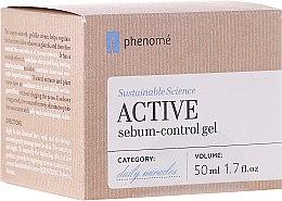 Profumi e cosmetici Crema-gel viso con acido ialuronico - Phenome Sustainable Science Active Sebum-Control Gel