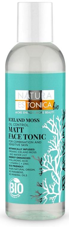 Tonico opacizzante per viso, muschio islandese - Natura Estonica Iceland Moss Face Tonic