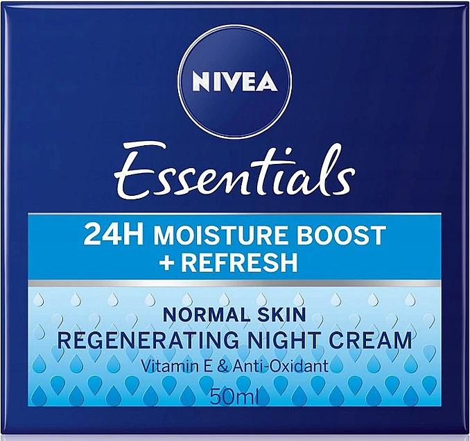Crema da notte per pelli normali - Nivea Essentials 24H Moisture Boost + Refresh Cream