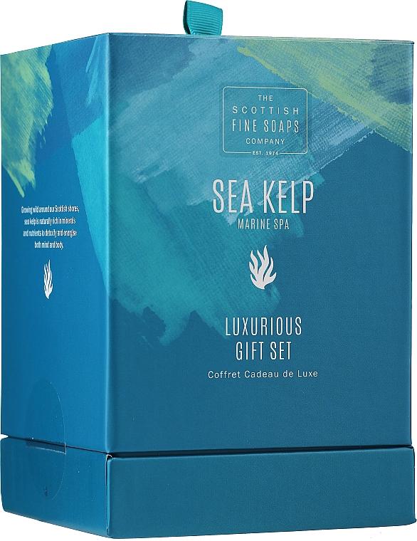 Set - Scottish Fine Soaps Sea Kelp Marine Spa Luxurious Gift Set(b/cr/75ml + b/peel/75ml + sh/cr/75ml + soap/40g) — foto N1