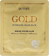 Profumi e cosmetici Maschera viso idrogel, in tessuto - Petitfee&Koelf Gold Hydrogel Mask Pack +5 Golden Complex