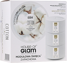 Profumi e cosmetici Candela profumata - House of Glam Calmig Clean Cotton Candle