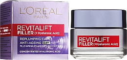 Profumi e cosmetici Crema viso anti-età, da giorno - L'Oreal Paris Revitalift Filler Hyaluronic Acid Day Cream