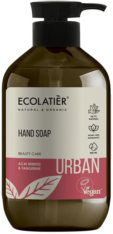 Sapone liquido alle bacche di acai e mandarino - Ecolatier Urban Liquid Soap