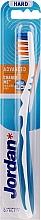 Profumi e cosmetici Spazzolino da denti, duro, senza cappuccio, bianco-blu - Jordan Advanced Toothbrush