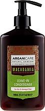 Profumi e cosmetici Balsamo idelibile per capelli secchi e danneggiati - Arganicare Macadamia Leave-in Conditioner