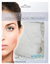 Profumi e cosmetici Maschera al collagene per rafforzare i vasi - Beauty Face Collagen Capillaries Strengthening Home Spa Treatment Mask