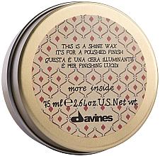 Profumi e cosmetici Cera per la lucentezza dei capelli - Davines More Inside This Is A Shine Wax