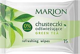 "Profumi e cosmetici Salviette rinfrescanti ""Green Tea"", 15 pz - Marion"
