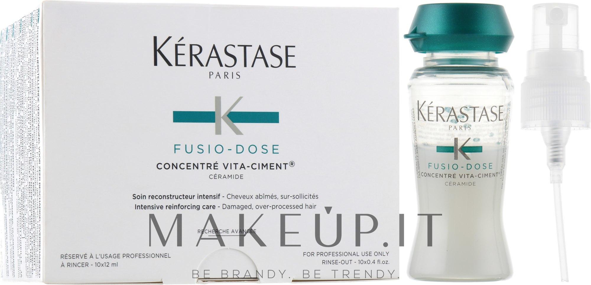 Concentrato per il ripristino dei capelli - Kerastase Fusio Dose Concentre Vita-Ciment  — foto 10x12 ml