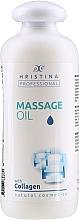 Profumi e cosmetici Olio da massaggio al collagene - Hristina Professional Massage Oil With Collagen