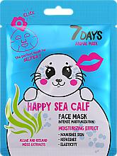 "Profumi e cosmetici Maschera viso ""Foca felice"" - 7 Days Animal Happt Sea Calf"