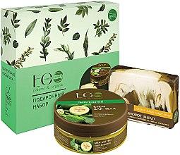"""Profumi e cosmetici Set """"Nutrizione per la pelle"""" - ECO Laboratorie (b/cr/200ml + soap/130g)"""