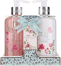 Profumi e cosmetici Set - Baylis & Harding Royale Garden Rose Poppy And Vanila (soap/300ml + h/cr/300ml)