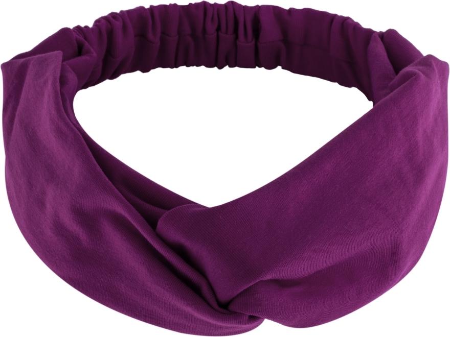"Fascia per capelli, annodata, viola, ""Knit Twist"" - MakeUp Hair Accessories — foto N1"