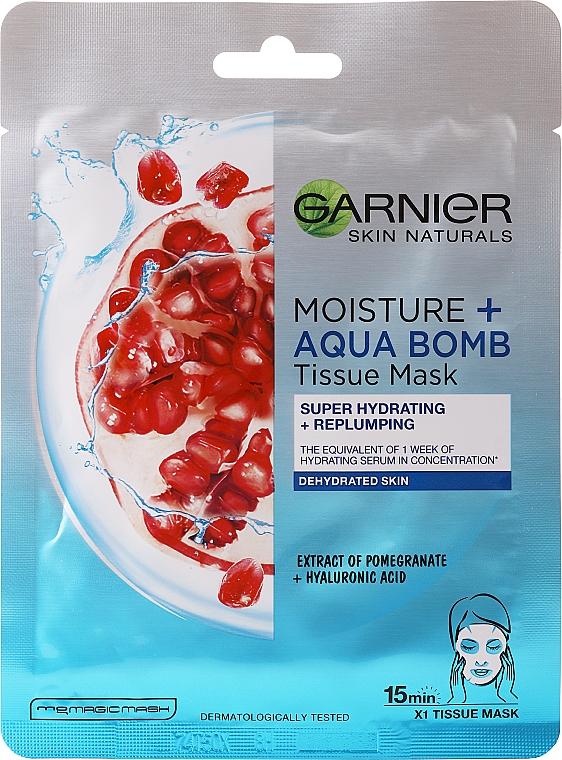 Maschera viso idratante - Garnier Skin Active Moisture + Aqua Bomb Tissue Mask