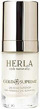 Profumi e cosmetici Gel contorno occhi - Herla Gold Supreme 24K Gold Superior Anti-Wrinkle Eye Repair Gel