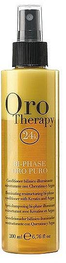 Balsamo spray rivitalizzante alla cheratina bifasico - Fanola Oro Therapy