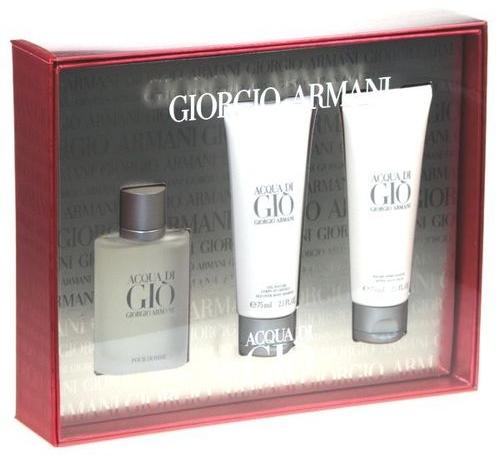 Giorgio Armani Acqua di Gio Pour Homme - Set (edt/50ml + sh/gel/75ml + a/sh/balm/75ml) — foto N1