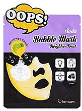 Profumi e cosmetici Maschera in tessuto schiumogena illuminante - Berrisom Soda Bubble Mask Brighten Fruit