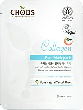 "Profumi e cosmetici Maschera viso rassodante ""Collagene"" - CHOBS Collagen Face Mask Pack"