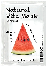 "Profumi e cosmetici Maschera viso in tessuto idratante ""Anguria"" con vitamina B5 - Too Cool For School Natural Vita Mask Hydrating"