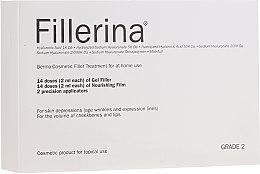 Profumi e cosmetici Trattamento dermato-cosmetico, livello 2 - Fillerina Dermo-Cosmetic Filler Treatment Grade 2 (gel/30ml + cr/30ml + applicator/2 pz)