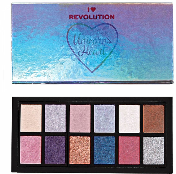 Palette ombretti - I Heart Revolution Unicorns Heart Eyeshadow Palette