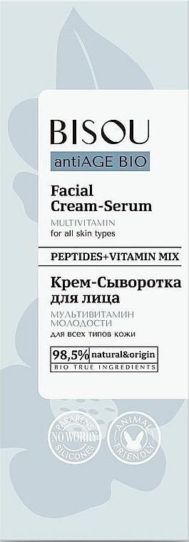 "Crema-siero viso ""Multivitaminica"" - Bisou AntiAge Bio Facial Cream Serum"