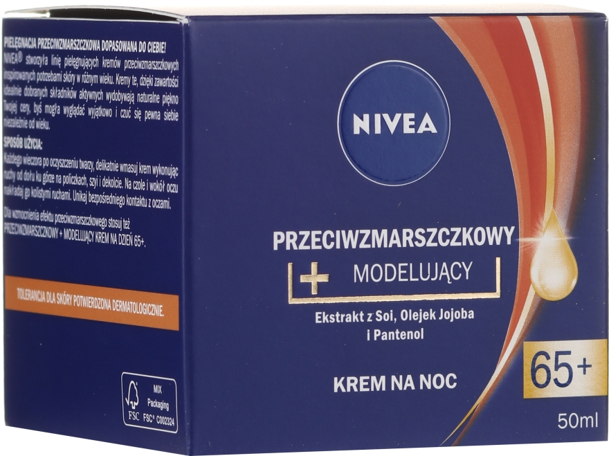 """Crema da notte """"Anti-rughe + modellistica"""" - Nivea Anti-Wrinkle Night Cream 65+"""