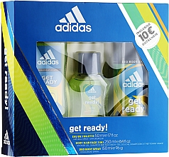 Profumi e cosmetici Adidas Get Ready for Him - Set (edt/50ml + deo/150ml + s/g/250ml)