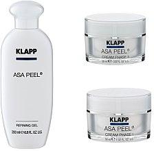 Profumi e cosmetici Set - Klapp ASA Peel Home Cure Pack (gel/200ml + f/cr/30ml + f/cr/30ml)