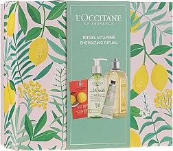 Profumi e cosmetici Set - L'Occitane Energizing Ritual (f/scr/6ml + micel/water/200ml + sh/gel/250ml + h/cr/30ml)