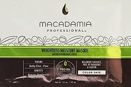 Profumi e cosmetici Maschera idratante per capelli fini - Macadamia Natural Oil Weightless Moisture Masque (Campioncino)