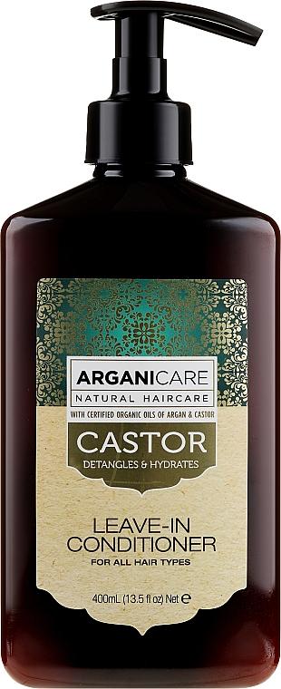 Balsamo indelebile per la crescita dei capelli - Arganicare Castor Oil Leave-in Conditioner