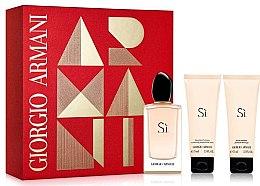 Profumi e cosmetici Giorgio Armani Si - Set (edp 100ml + b/l 75ml + sh/g 75ml)