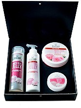 Profumi e cosmetici Set - Hristina Cosmetics Stani Chef's White Rose Jelly (b/lot/250ml + sh/gel/250ml + b/scrub/250ml + h/cr/100ml)