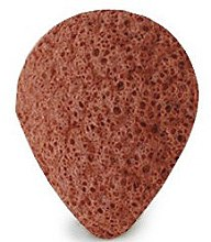 Profumi e cosmetici Spugna doccia, goccia, con argilla rossa - Bebevisa Konjac Sponge