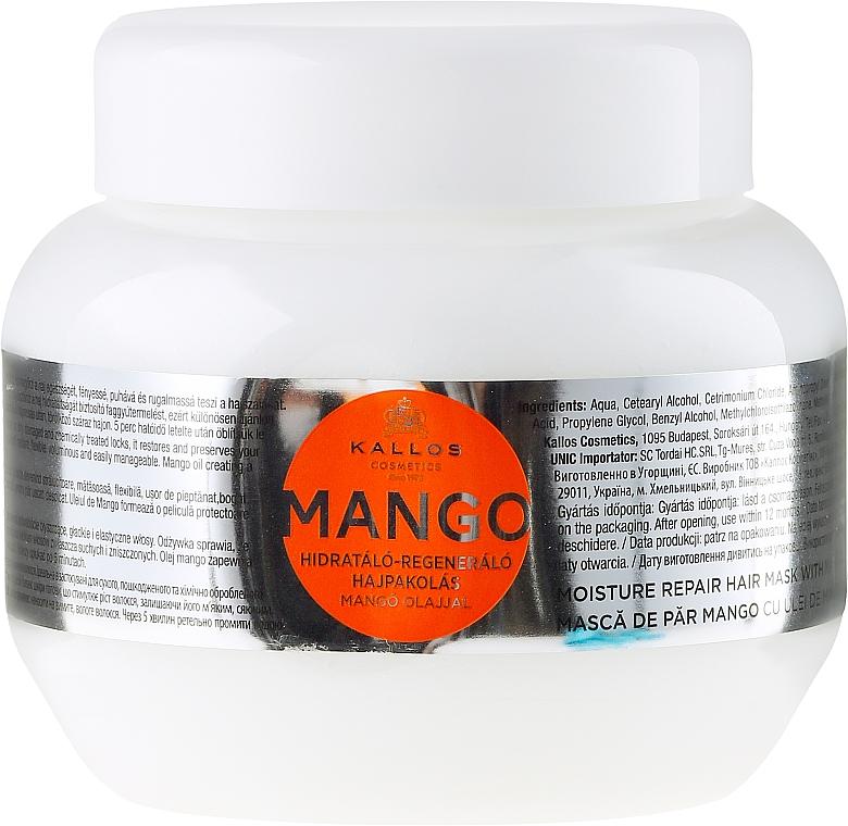 Maschera capelli idratante, con olio di mango - Kallos Cosmetics Mango Hair Mask