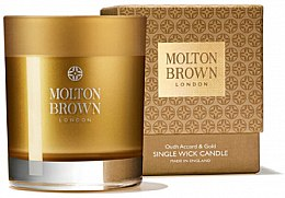 Profumi e cosmetici Molton Brown Mesmerising Oudh Accord & Gold Single Wick Candle - Candela profumata