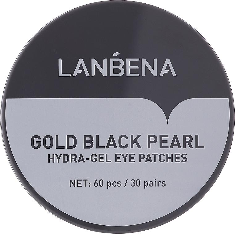 Patch contorno occhi in idrogel con oro e perle nere - Lanbena Gold Black Pearl Hydra-Gel Eye Patch