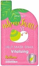 Profumi e cosmetici Maschera viso rivitalizzante - Dewytree Help Me Snail! Vitalizing Mask
