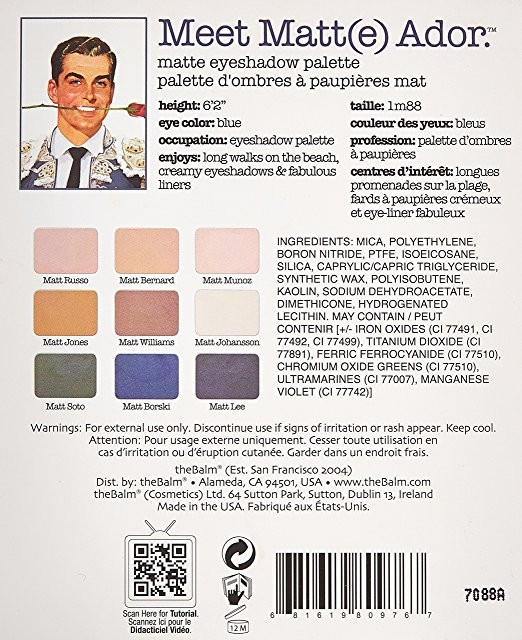 Palette ombretti - TheBalm Meet Matt(e) Ador Matte Eyeshadow Palette — foto N3