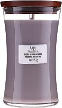 Profumi e cosmetici Candela profumata in bicchiere - WoodWick Suede & Sandalwood Candle