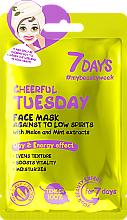 """Profumi e cosmetici Maschera viso energizzante con estratti di melone e menta """"Cheerful Tuesday"""" - 7 Days Cheerful Tuesday"""