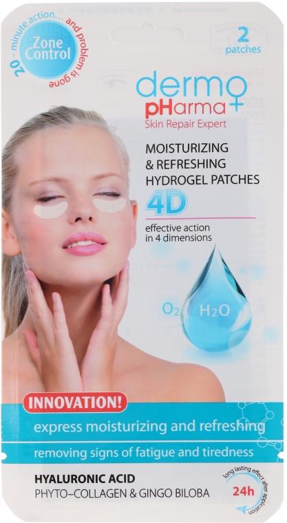 Patch-gel contorno occhi - Dermo Pharma 4D Moisturizing & Refreshing Gel Patches — foto N1