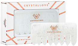 Profumi e cosmetici Pettine per il massaggio del cuoio capelluto in quarzo trasparente - Crystallove Clear Quartz Comb