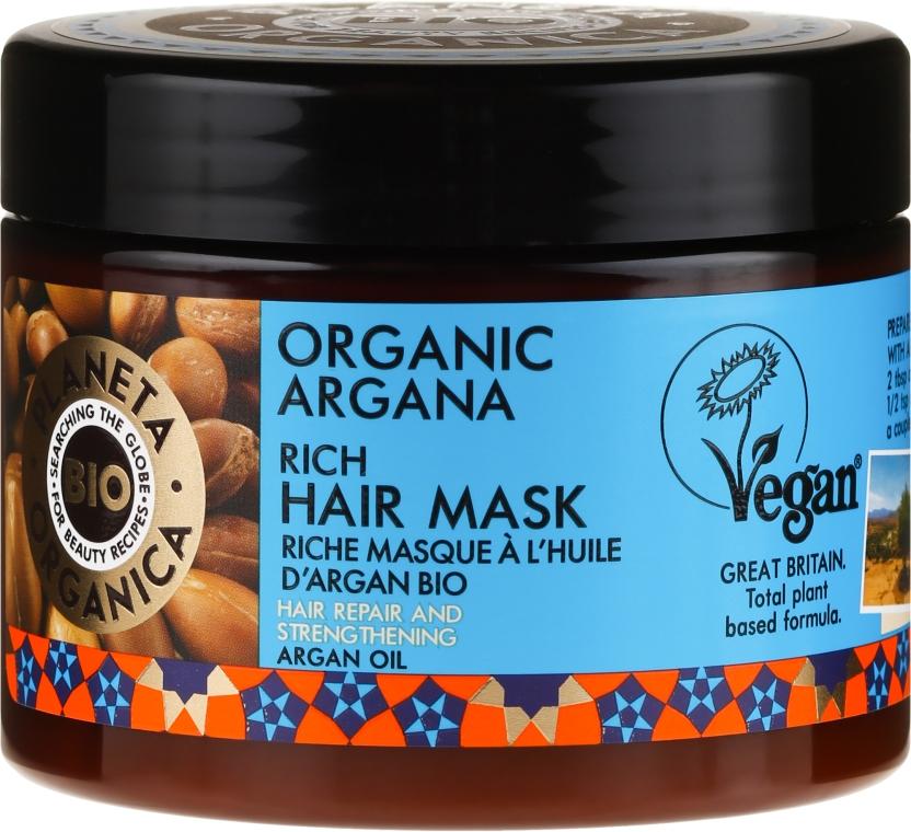 Maschera riparatrice per capelli - Planeta Organica Organic Argana Rich Hair Mask