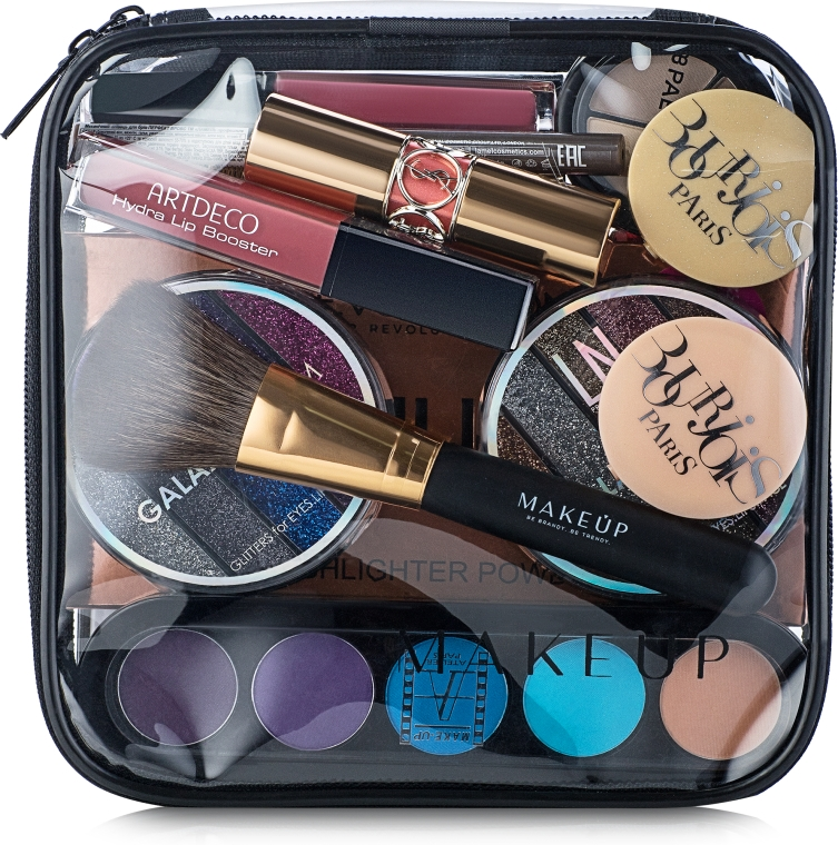 "Beauty case trasparente ""Visible Bag"" (senza cosmetici) 17x17x6cm - MakeUp"