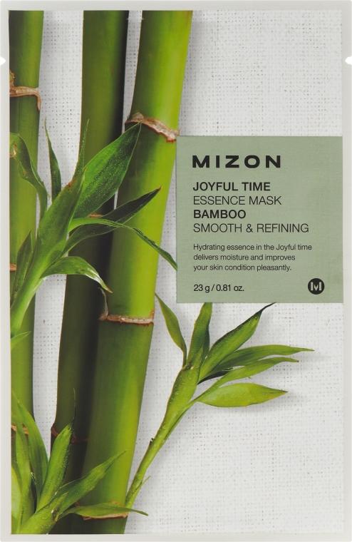 Maschera in tessuto con estratto di bambù - Mizon Joyful Time Essence Mask Bamboo